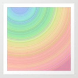 Abstract Pastel Rainbow I Cute abstract circles, gradient pattern Art Print