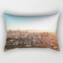 San Francisco Cityscape (Color) Rectangular Pillow
