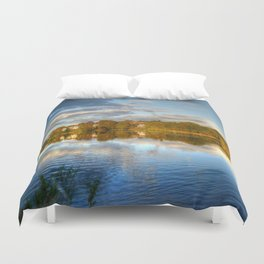 Roath Park Reflections HDR Duvet Cover