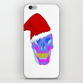 The Death Of Christmas - Santa's Skull iPhone Skin