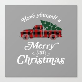 Have yourself a Merry little Christmas Vintage Truck Canvas Print