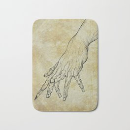 The Sixth Finger of the Writer Bath Mat