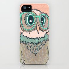 Owl wearing glasses II iPhone (5, 5s) Slim Case