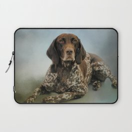 Waiting For A Cue - German Shorthaired Pointer Laptop Sleeve
