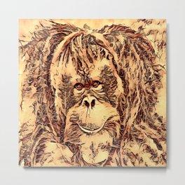 Animal ArtStudio - amazing Orangutan Metal Print