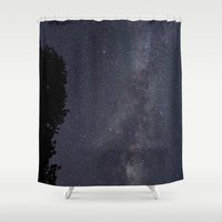 milky way Shower Curtains featuring Milky Way  by Chasing the Cosmos
