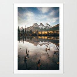 Alberta's Three Sisters Art Print