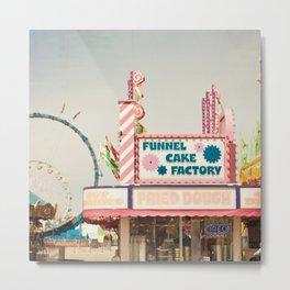 Carnival Funnel Cake Factory  Metal Print
