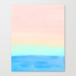 Retro Rainbow Painting Canvas Print
