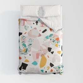 Mixed Mess I. / Collage, Terrazzo, Colorful Comforters