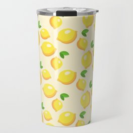 Lemon Pattern Travel Mug