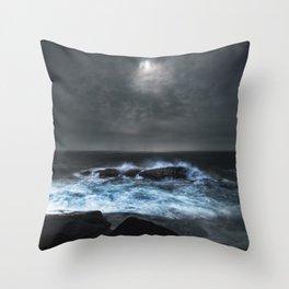 Moonlit Shoals Throw Pillow