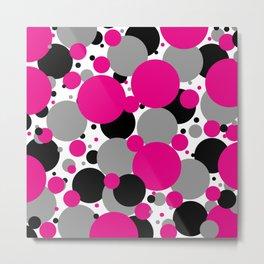 Pink Polka Dots Metal Print
