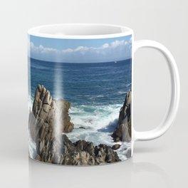 Waves crashing on rocks in Monterey Bay Coffee Mug