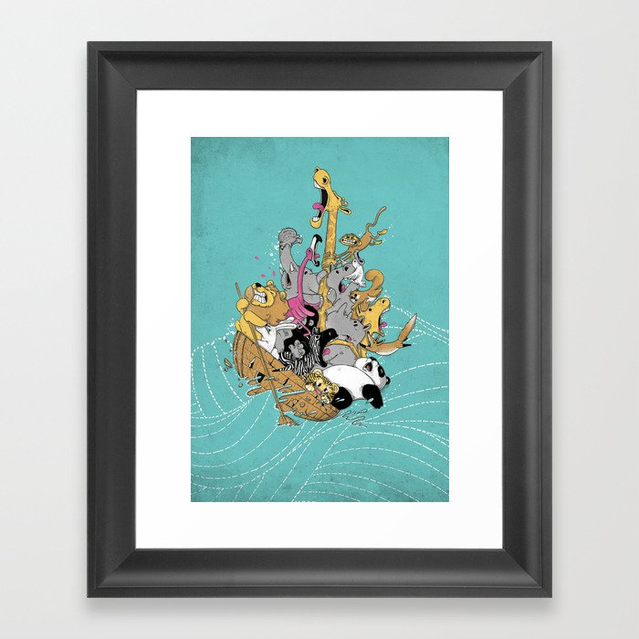 Hang On Tight! Framed Art Print