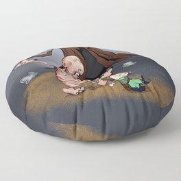 Ofelia and Pale Man Floor Pillow