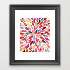 Color Flower Burst Framed Art Print