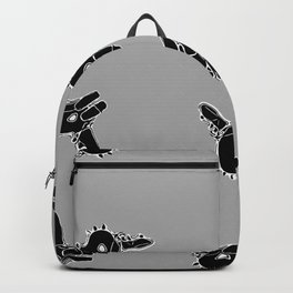 Black and grey Dino Backpack