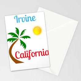 Irvine California Palm Tree and Sun Stationery Cards