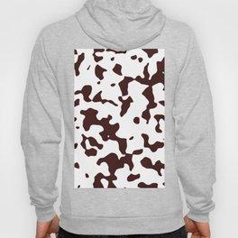 Large Spots - White and Dark Sienna Brown Hoody