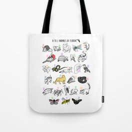 A to Z Animals of Florida Tote Bag