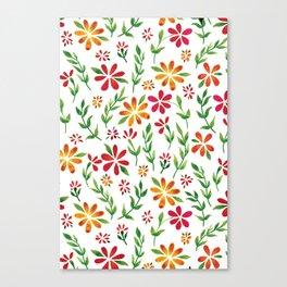 Dark Florals | Original White Palette Canvas Print