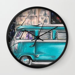 Hippie Van Wall Clock