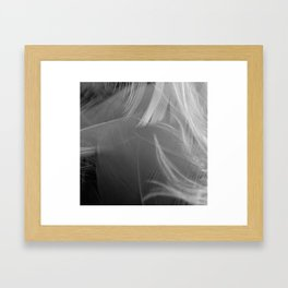 Black and White Feather Gradient  Framed Art Print
