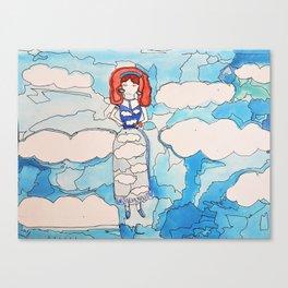 Sky Girl Canvas Print