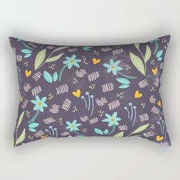 Azzurro flowers pattern  Rectangular Pillow