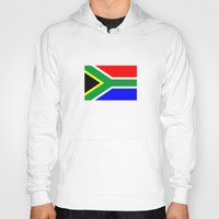 south africa Hoodies featuring south africa country flag by tony tudor