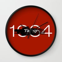 tokyo Wall Clocks featuring Tokyo by Artworks by PabloZarate Inc.