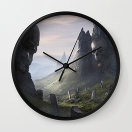 The Flame of Helheim Wall Clock
