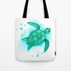Green Turtle Client Rework Tote Bag