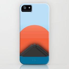 Symmetric Mountains iPhone Case