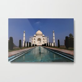 Taj Mahal Agra Indien Metal Print