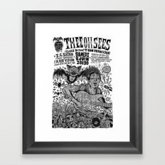 Thee Oh Sees 2012 Framed Art Print