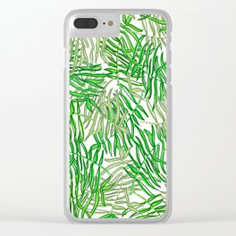 Tropical in greens Clear iPhone Case