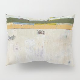 Chariot White Abstract Modern Painting Art Pillow Sham