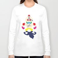yeti Long Sleeve T-shirts featuring Yeti by Lucy Irving