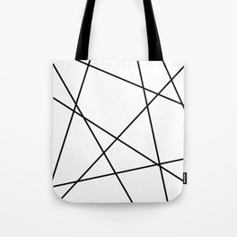 Lines in Chaos II - White Tote Bag