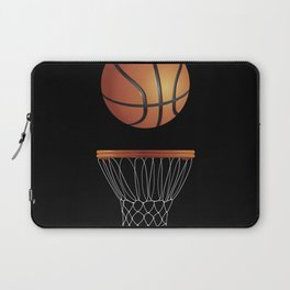 Basketball awesome realistic illustration| Basketball  lovers gift. Laptop Sleeve