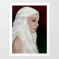 mother of dragons Art Prints featuring Mother of Dragons by Sarah Elizabeth