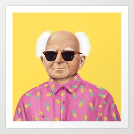 The Israeli Hipster leaders - David Ben Gurion Art Print