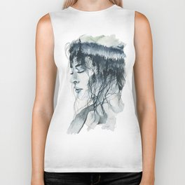 Into thick woods alone Biker Tank