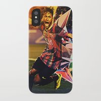 neymar iPhone & iPod Cases featuring Neymar by Max Hopmans / FootWalls