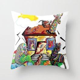 Animal House Throw Pillow