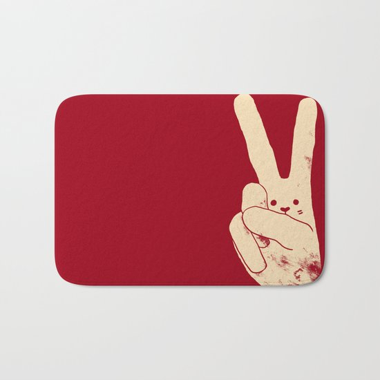 Love Peace and Carrots Bath Mat