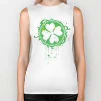 clover Biker Tanks featuring Patrick's clover by Sitchko Igor