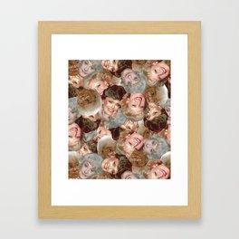 Golden Girls Toss Framed Art Print